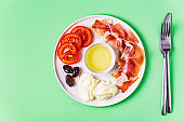 Ketogenic diet food, healthy meal concept