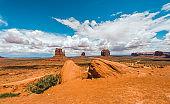 Monument Valley desert in Southwest USA