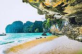 Idyllic beach on a tropical island in Thailand