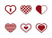 High quality red flat pattern of hearts icon. Happy valentine's day, love, romance. Useful for social media, interfaces, motion graphics, websites etc.