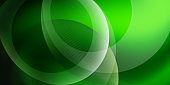 Green abstract circle graphic art wallpaper background computer