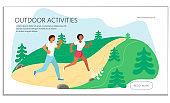 Summer outdoor activity marathon website