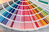 Choice colorful paper spectrumfor design. colour palette for patern