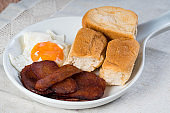 processed meat with egg and pandesal