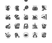 Chicken Well-crafted Pixel Perfect Vector Solid Icons 30 2x Grid for Web Graphics and Apps. Simple Minimal Pictogram