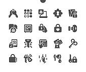 Keys and Locks Well-crafted Pixel Perfect Vector Solid Icons 30 2x Grid for Web Graphics and Apps. Simple Minimal Pictogram