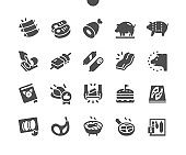 Pork Well-crafted Pixel Perfect Vector Solid Icons 30 2x Grid for Web Graphics and Apps. Simple Minimal Pictogram