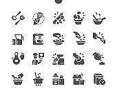 Kitchen 2 Well-crafted Pixel Perfect Vector Solid Icons 30 2x Grid for Web Graphics and Apps. Simple Minimal Pictogram
