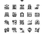 Hotels Well-crafted Pixel Perfect Vector Solid Icons 30 2x Grid for Web Graphics and Apps. Simple Minimal Pictogram