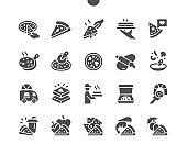 Pizza Well-crafted Pixel Perfect Vector Solid Icons 30 2x Grid for Web Graphics and Apps. Simple Minimal Pictogram