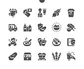 Kebabs Well-crafted Pixel Perfect Vector Solid Icons 30 2x Grid for Web Graphics and Apps. Simple Minimal Pictogram