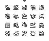 Car Insurance Well-crafted Pixel Perfect Vector Solid Icons 30 2x Grid for Web Graphics and Apps. Simple Minimal Pictogram