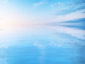 Beautiful seascape reflection
