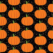 Halloween night seamless pattern vector. Digital graphic design.