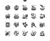 Pasta Well-crafted Pixel Perfect Vector Solid Icons 30 2x Grid for Web Graphics and Apps. Simple Minimal Pictogram
