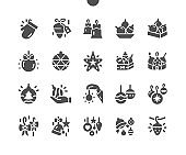 Toys on the Christmas tree Well-crafted Pixel Perfect Vector Solid Icons 30 2x Grid for Web Graphics and Apps. Simple Minimal Pictogram