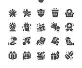 Rewards Well-crafted Pixel Perfect Vector Solid Icons 30 2x Grid for Web Graphics and Apps. Simple Minimal Pictogram