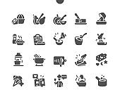 Cooking 2 Well-crafted Pixel Perfect Vector Solid Icons 30 2x Grid for Web Graphics and Apps. Simple Minimal Pictogram