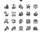 Shopping UI Pixel Perfect Well-crafted Vector Solid Icons 48x48 Ready for 24x24 Grid for Web Graphics and Apps. Simple Minimal Pictogram
