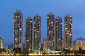 High rise residential building in Hong Kong city
