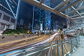 downtown district of Hong Kong city
