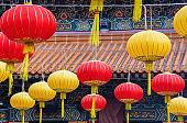 Chinese temple in Hong Kong, China