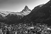 Mountain Matterhorn in Zermatt, Switzerland