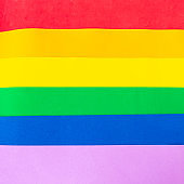 The Rainbow Flag, used as a symbol of lesbian, gay, bisexual, transgender, and queer (LGBTQ) background texture.