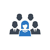 Business People Icon. team, users (vector illustration)
