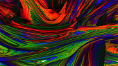 Abstract meditative color fractal background. 3d rendering