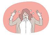 Anger, mental stress, business concept