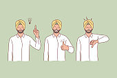 Hindu, idea, like, dislike set concept