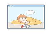 Online, communication, quarantine, coronavirus concept