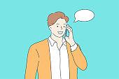 Communication, mobile, conversation, technology concept