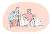 Teamwork, negotiations, business communication concept
