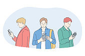 Smartphone, online communication, chatting concept