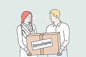 Medicine, health, help support, donation concept