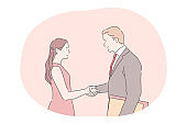 Deal, business agreement, successful negotiations concept
