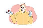 Coronavirus, vaccine, healthcare concept