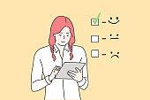 Customer assessment, business concept