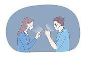 Protection, quarantine, communication, infection, coronavirus concept