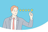 Rating, estimation, certification concept