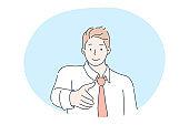 Meeting, greeting, business deal, recruitment, employment concept