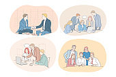 Teamwork, business, negotiations, deal, office, agreement, cooperation concept