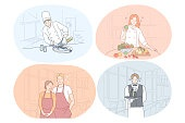 Restaurant worker, cook, chef, waiter, barista concept