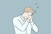 Business, sleep, fatigue, insomnia concept