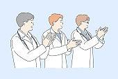 Medicine, applause, team, congratulation, success concept