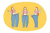 Losing weight, slim, diet concept