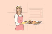 Cooking, food, hobby, housework concept