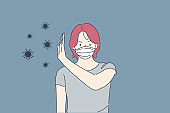 Coronavirus, protection, stop, biohazard concept